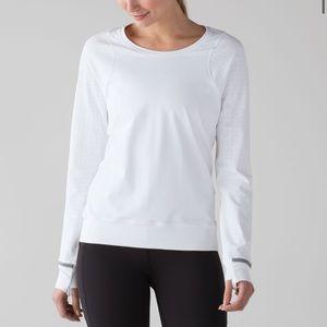 Lululemon mind over miles long sleeve shirt white